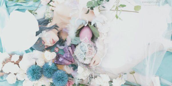なつみ white veil jelly fish~ 幸白心青 ~